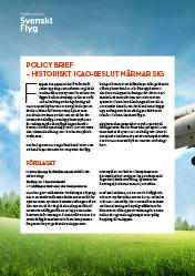 Policy Brief – Historiskt ICAO-beslut närmar sig